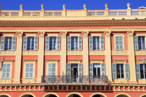 Beautiful building in the city of Nice, France